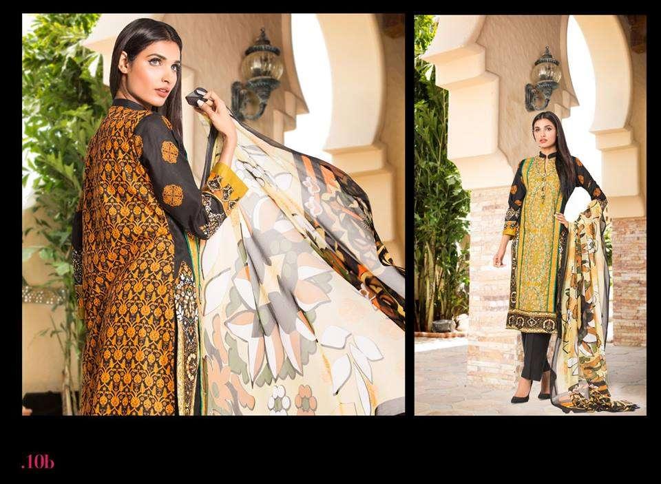 Al Zohaib Embroidered Lawn Unstitched 3 Piece Suit ZA PL 10B