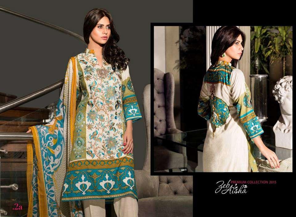 Al Zohaib Embroidered Lawn Unstitched 3 Piece Suit ZA PL 2A
