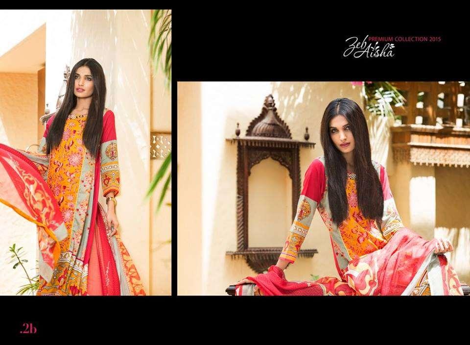 Al Zohaib Embroidered Lawn Unstitched 3 Piece Suit ZA PL 2B