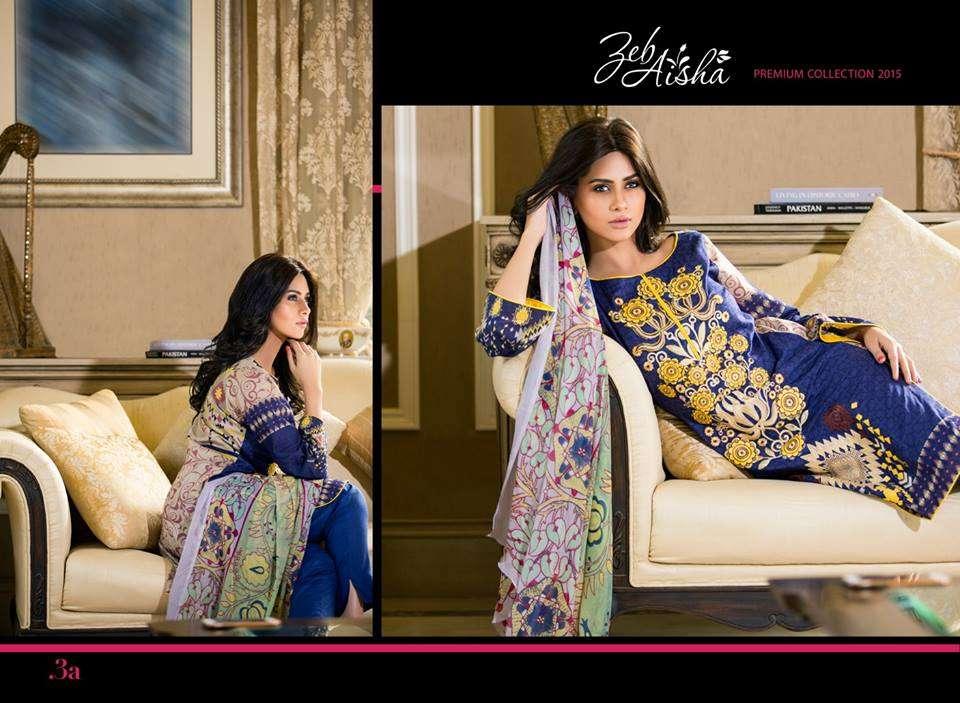 Al Zohaib Embroidered Lawn Unstitched 3 Piece Suit ZA PL 3A