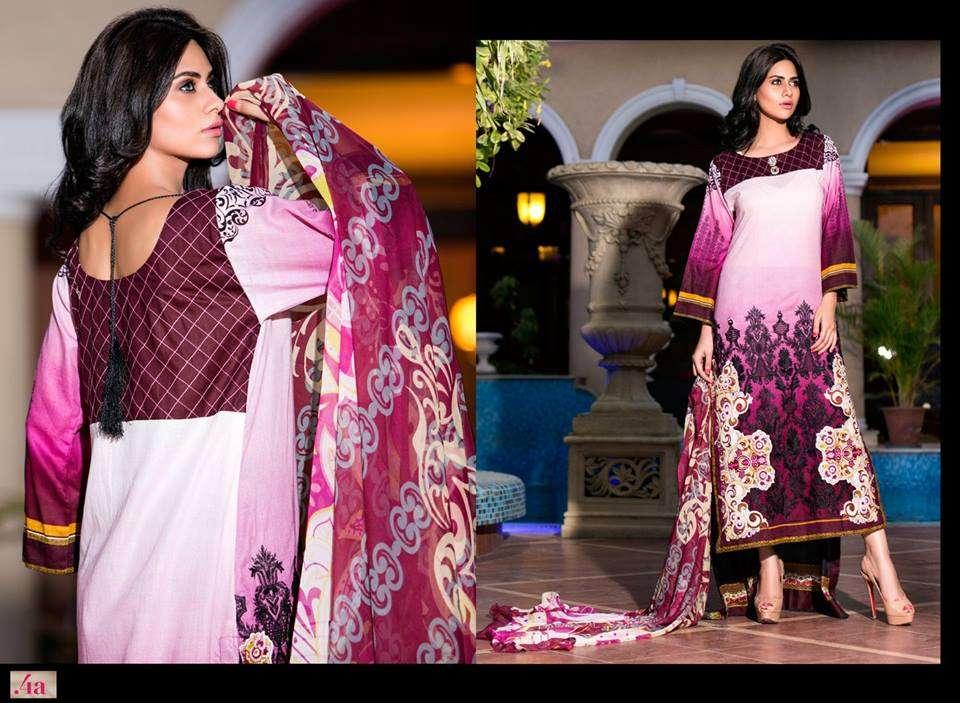 Al Zohaib Embroidered Lawn Unstitched 3 Piece Suit ZA PL 4A