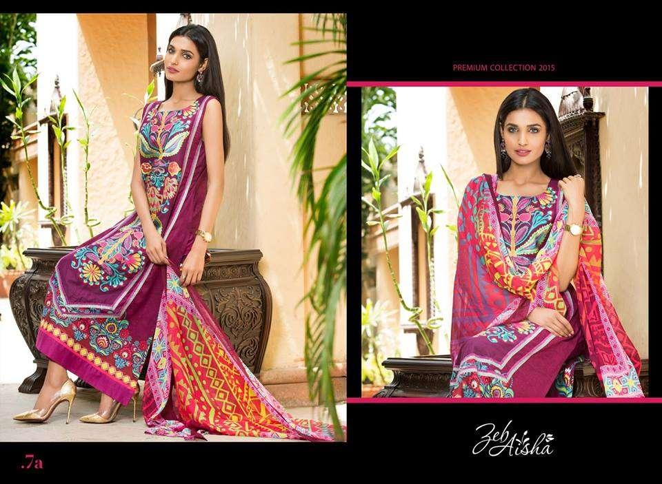 Al Zohaib Embroidered Lawn Unstitched 3 Piece Suit ZA PL 7A