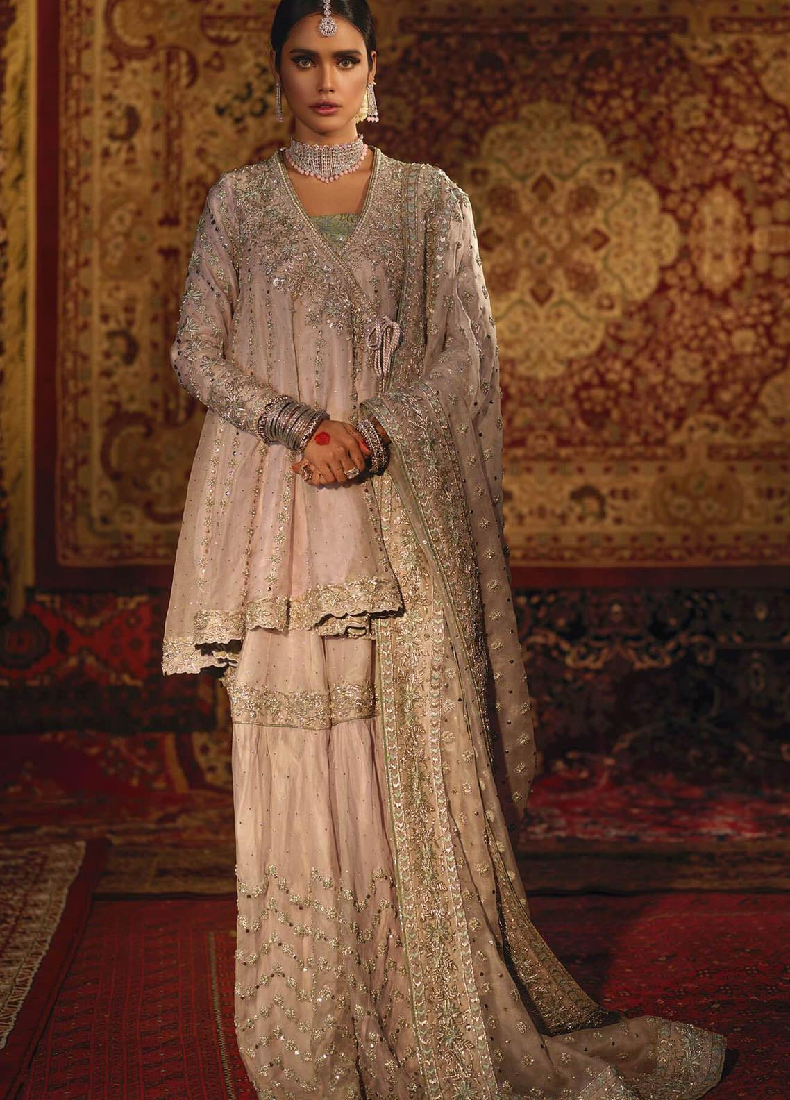Zaaviay Embroidered Net Stitched 3 Piece Suit SHEHR BANO
