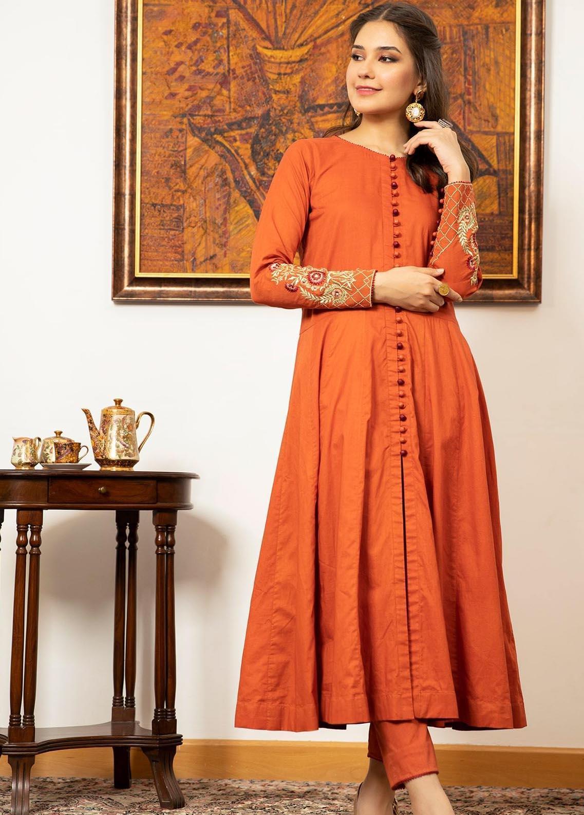 Zaaviay Pret Luxury Cotton 2 Piece ZV21LP ZPR-039 Dahlia