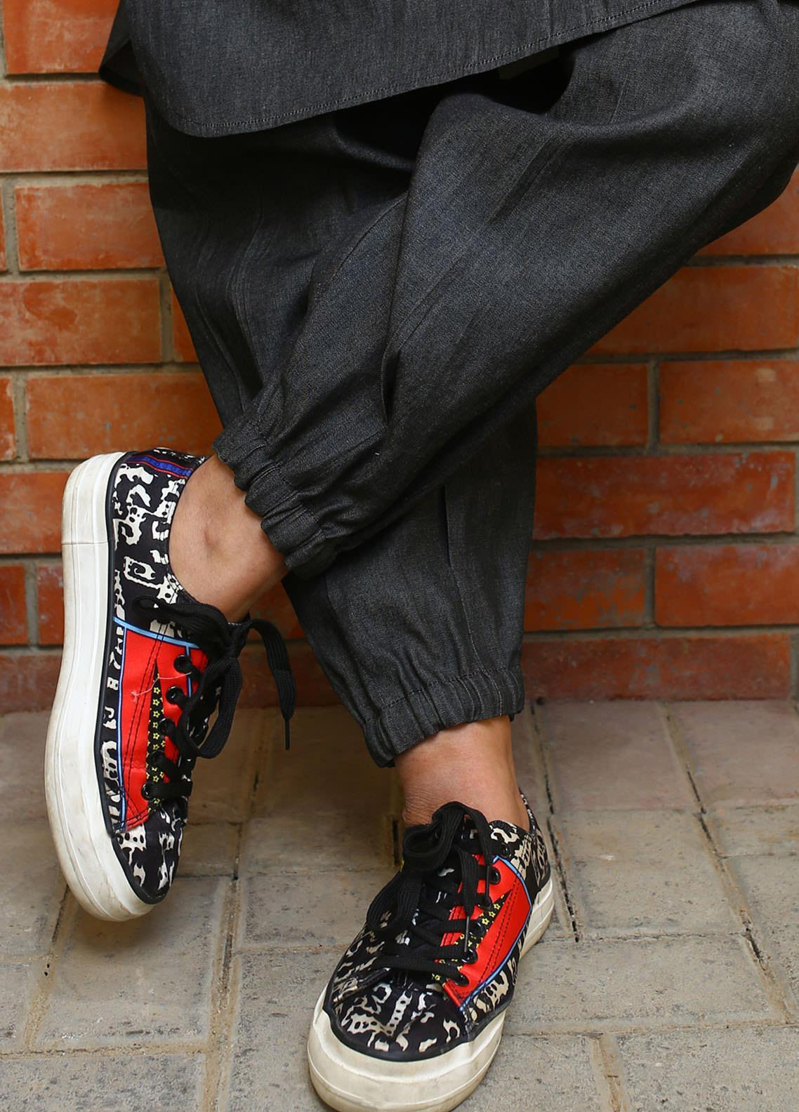 Zaaviay Fancy Denim Stitched Trousers ZW20P ZDT-001 DENIM PLEATED SHALWAR