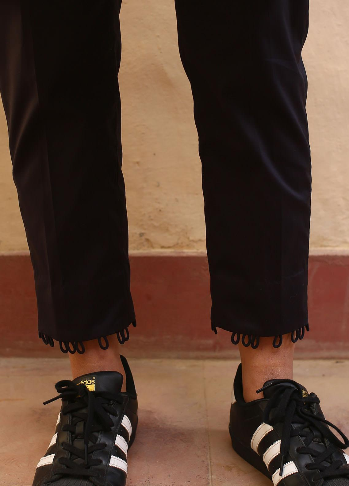 Zaaviay Fancy Lycra Stitched Trousers ZW20P ZDT-003 STRAIGHT LOOP PANTS