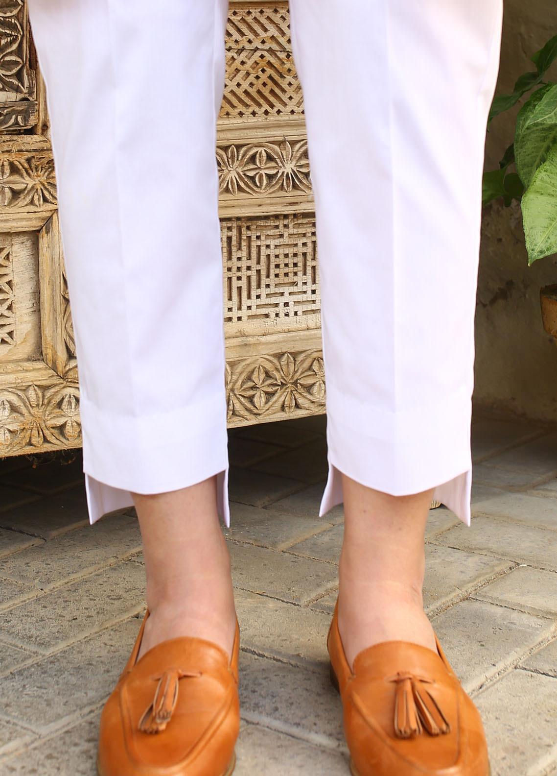 Zaaviay Fancy Lycra Stitched Trousers ZW20P ZDT-007 STRAIGHT HIGH LOW PANTS