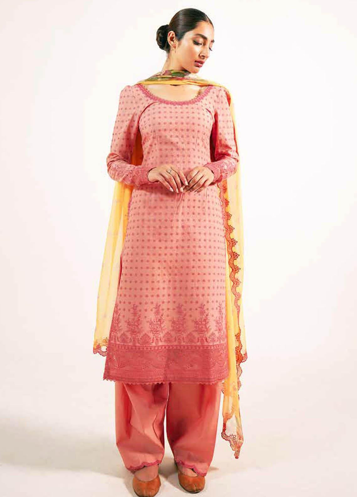 Zara Shahjahan Embroidered Lawn Suits Unstitched 3 Piece ZS21L 14 Zubaida-B - Summer Collection