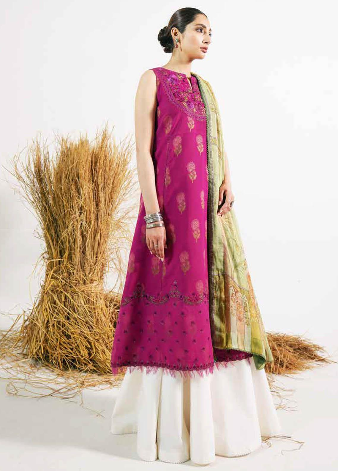Zara Shahjahan Embroidered Lawn Suits Unstitched 3 Piece ZS21L 20 Preet-B - Summer Collection