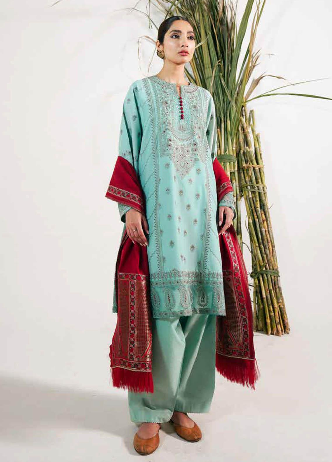 Zara Shahjahan Embroidered Lawn Suits Unstitched 3 Piece ZS21L 29 Noori-A - Summer Collection