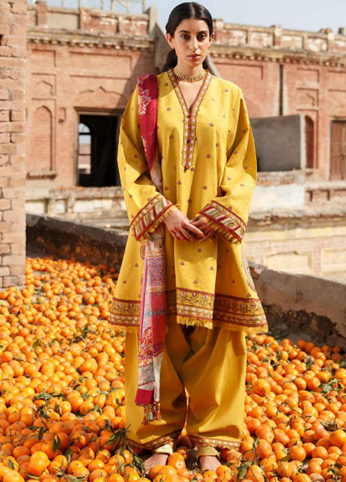Zara Shahjahan Embroidered Lawn Suits Unstitched 3 Piece ZS21L 02 Meesha-B - Summer Collection