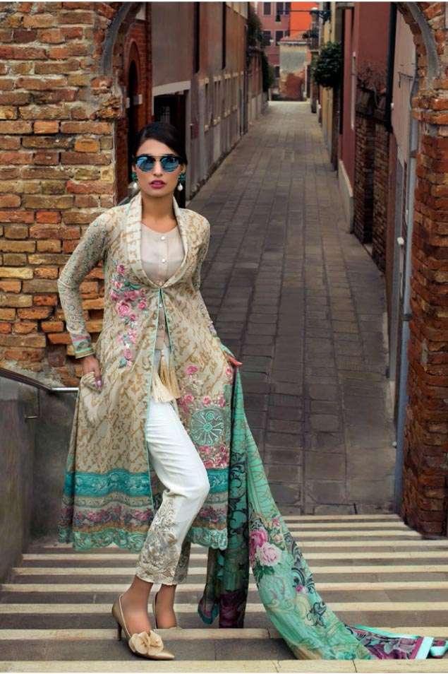 Zainab Chottani Embroidered Lawn Unstitched 3 Piece Suit ZC17L 1B