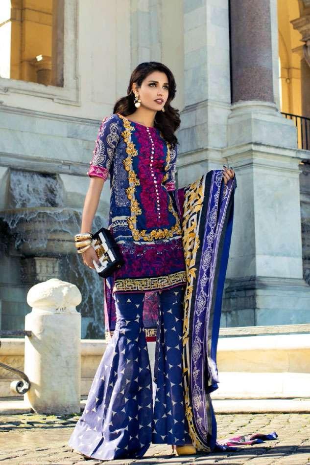 Zainab Chottani Embroidered Lawn Unstitched 3 Piece Suit ZC17L 3A