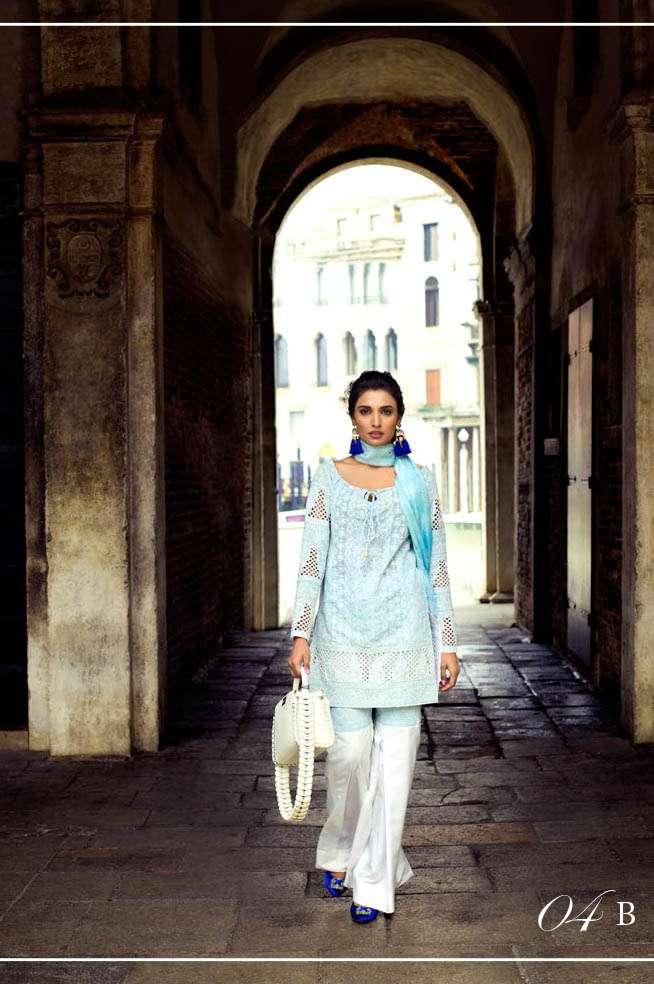 Zainab Chottani Embroidered Lawn Unstitched 3 Piece Suit ZC17L 4B