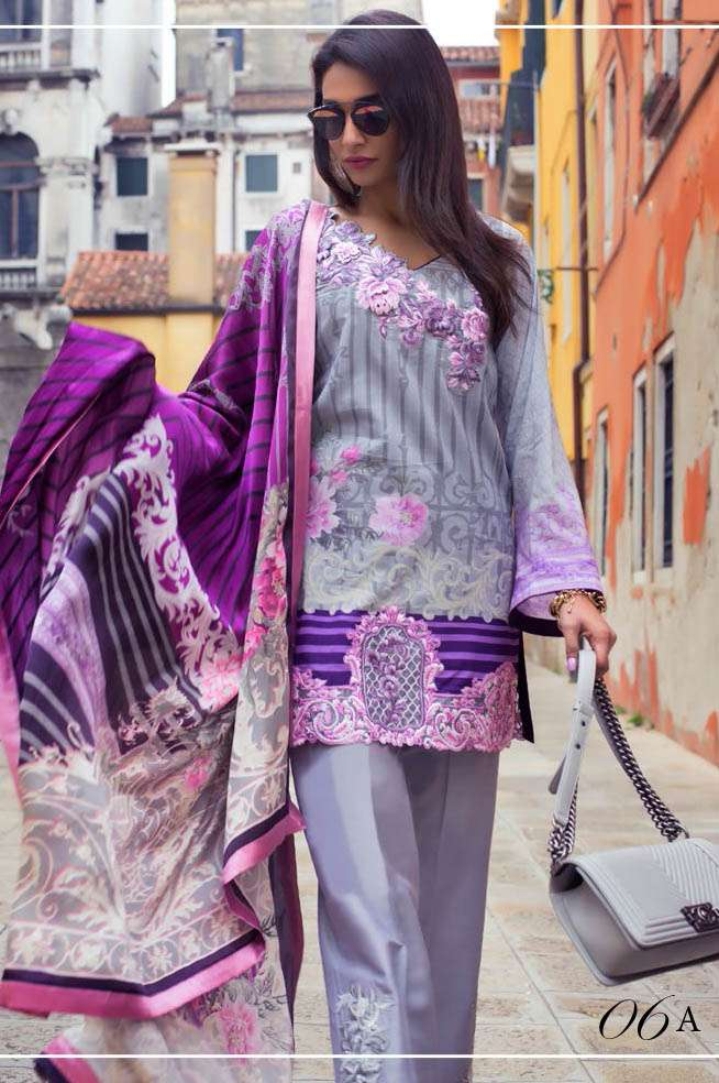 Zainab Chottani Embroidered Lawn Unstitched 3 Piece Suit ZC17L 6A