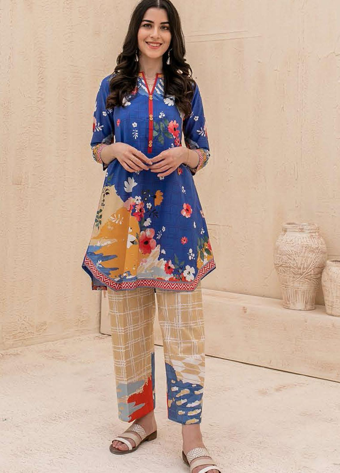 Zellbury Printed Cambric Suits Unstitched 2 Piece ZL21CB WUC21X20010 - Winter Collection