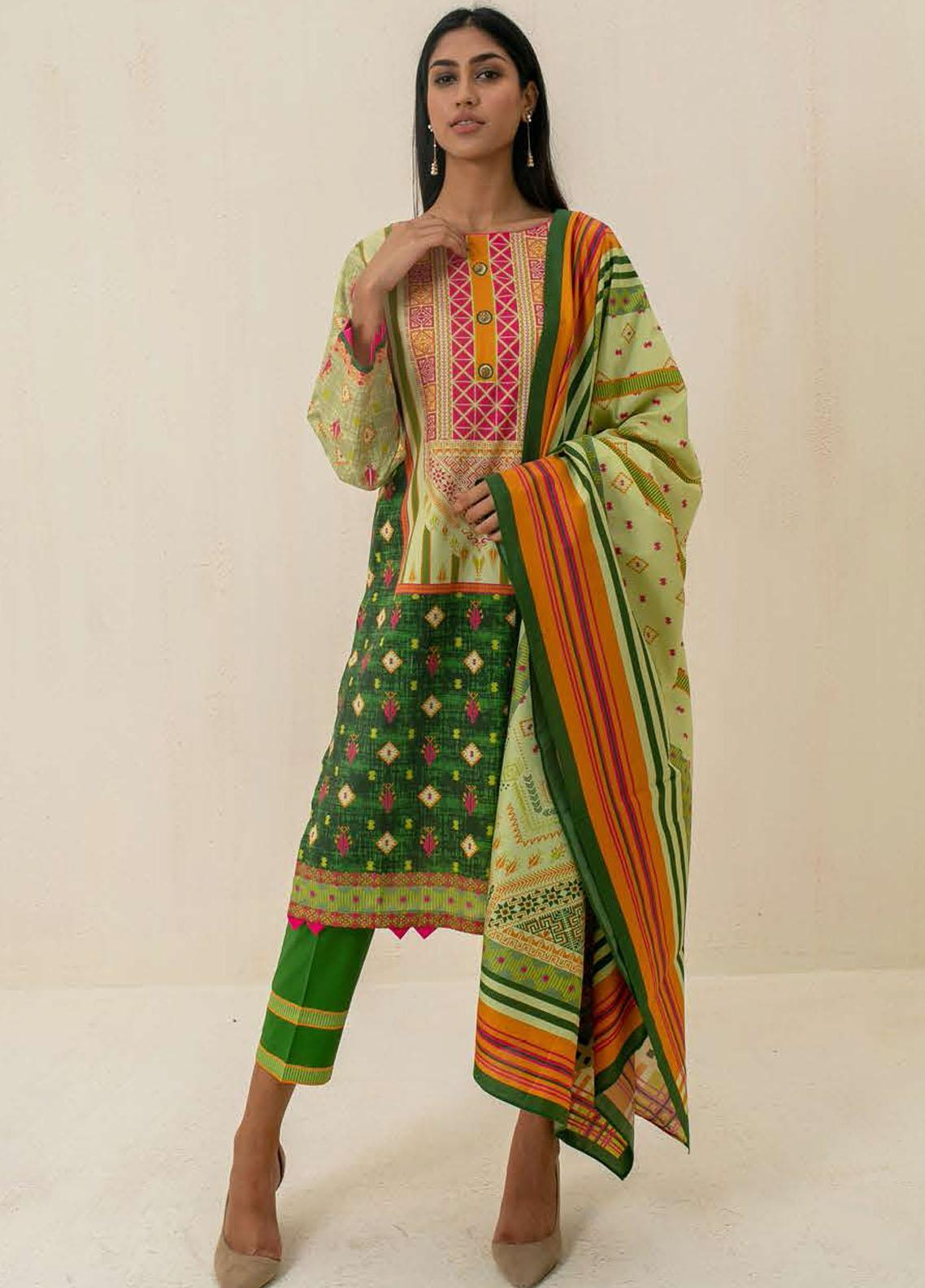 Zellbury Printed Cambric Suits Unstitched 3 Piece ZL21CB WUC21X30026 - Winter Collection