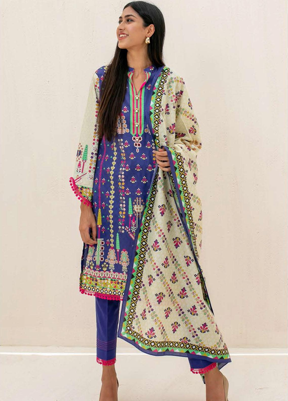 Zellbury Printed Cambric Suits Unstitched 3 Piece ZL21CB WUC21X30028 - Winter Collection