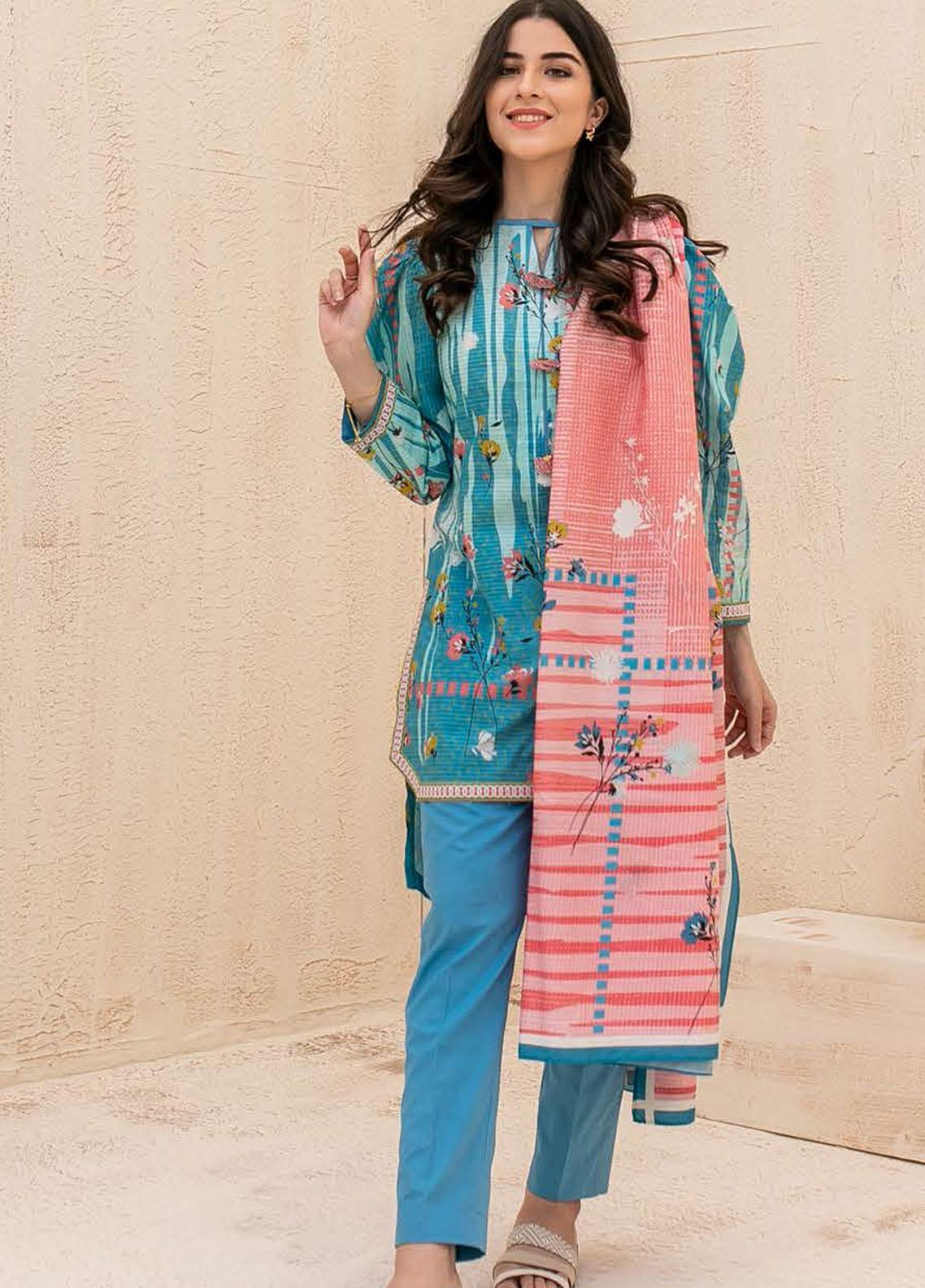Zellbury Printed Cambric Suits Unstitched 3 Piece ZL21CB WUC21X30035 - Winter Collection