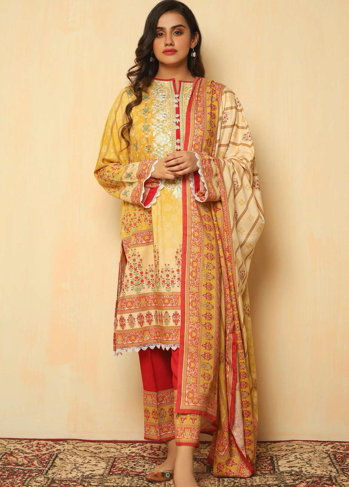 Zellbury Embroidered Viscose Suits Unstitched 2 Piece ZL21CB WUC21X20041 - Winter Collection