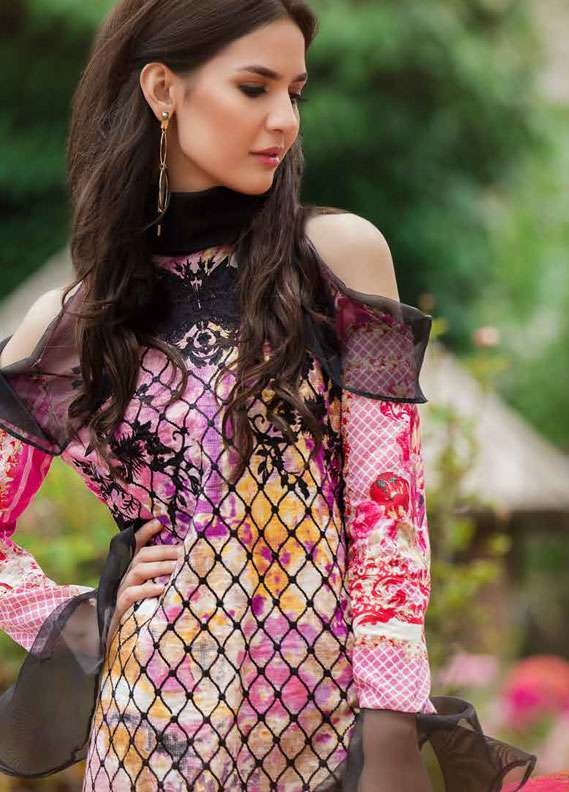 Zara Khan Embroidered Lawn Unstitched 3 Piece Suit ZK18L 1A - Spring Collection