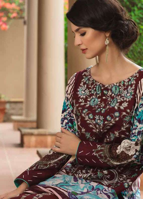 Zara Khan Embroidered Lawn Unstitched 3 Piece Suit ZK18L 2B - Spring Collection