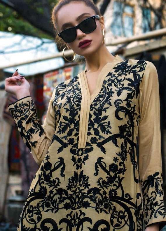 Veena Durrani Embroidered Cotton Net Unstitched Kurtis ZO17C1 1A