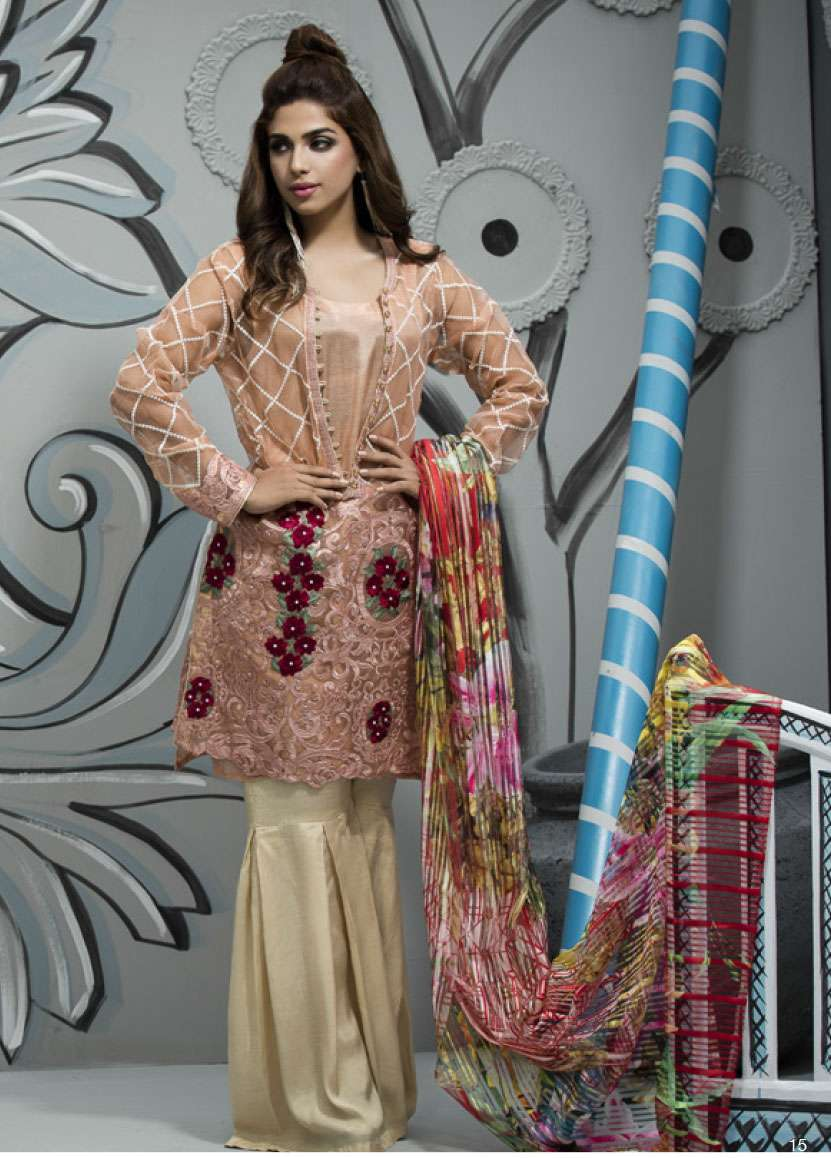 Veena Durrani Embroidered Lawn Unstitched 2 Piece Suit ZO17T4 04