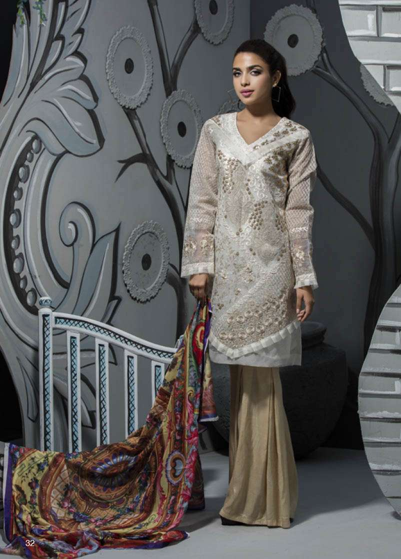Veena Durrani Embroidered Lawn Unstitched 2 Piece Suit ZO17T4 08