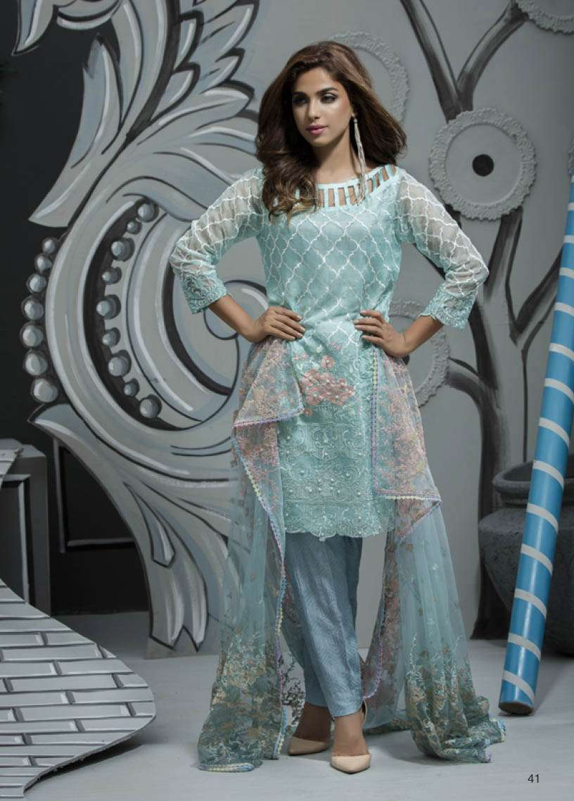 Veena Durrani Embroidered Lawn Unstitched 2 Piece Suit ZO17T4 11