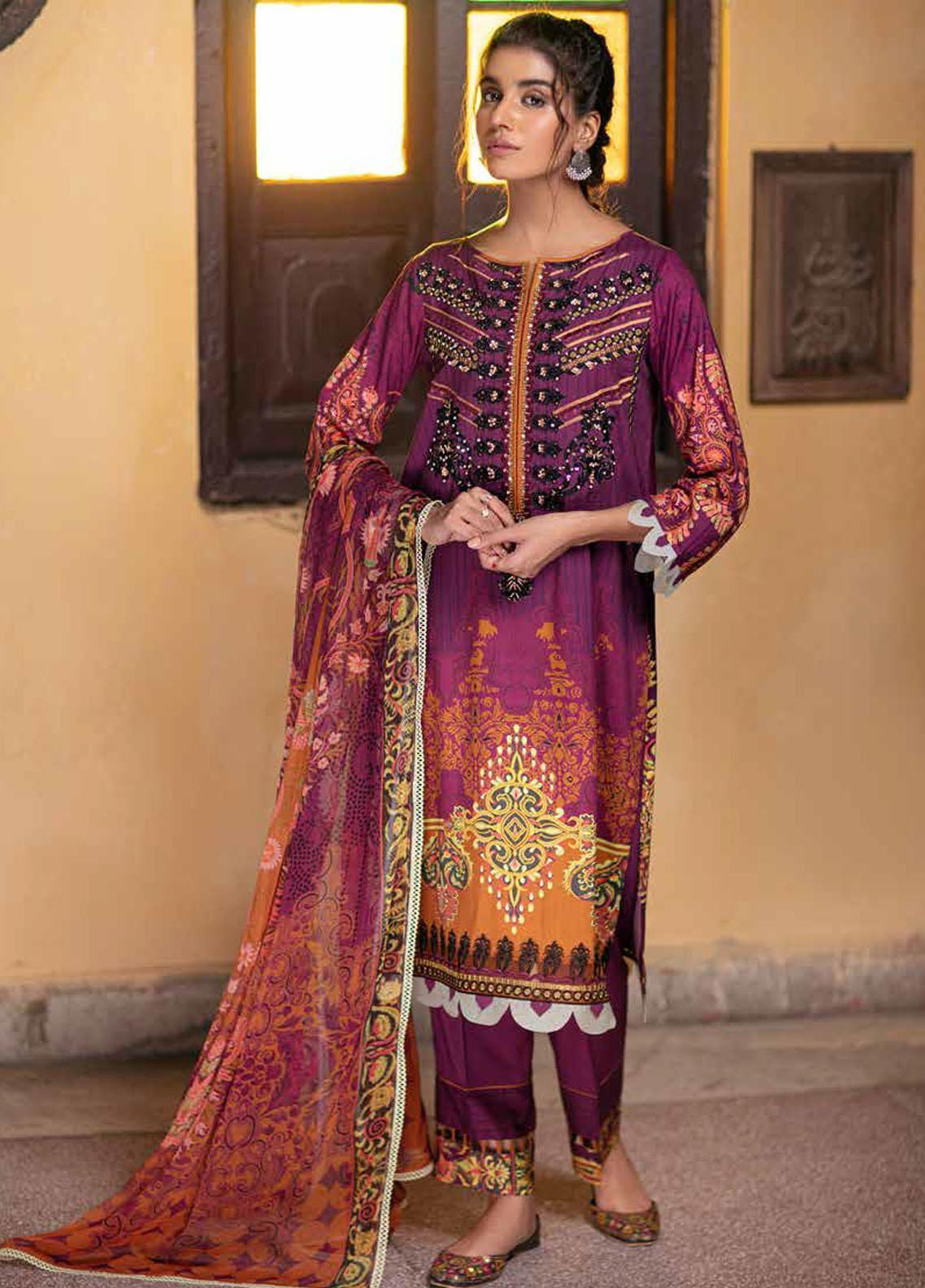 Zoya by Rang Rasiya Embroidered Linen Suits Unstitched 3 Piece RR21ZL 12 Roop - Winter Collection